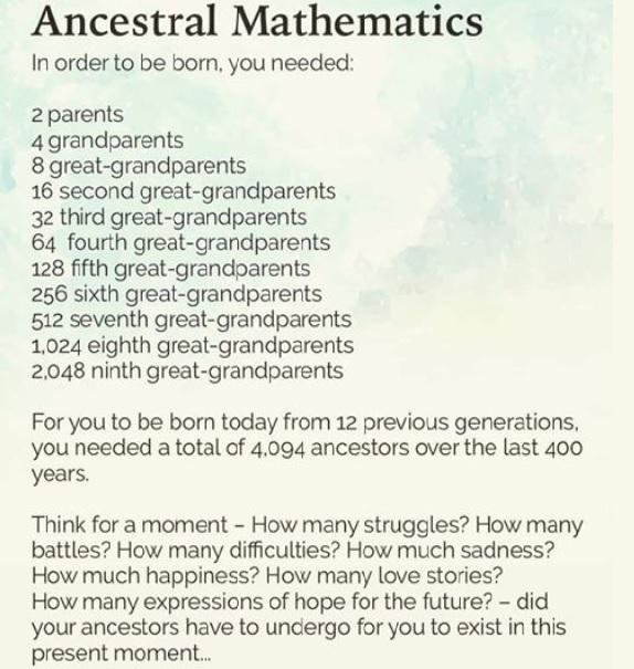 Ancestral Math